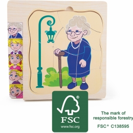 Puzzle in straturi Viata Bunicii