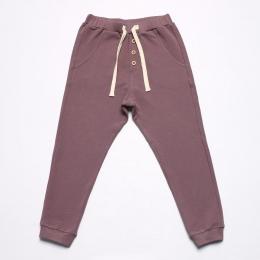 Pantaloni din bumbac organic Mauve