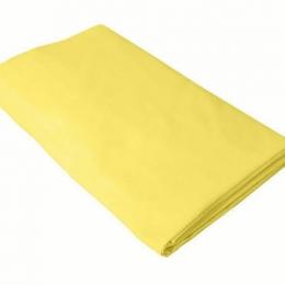 Cearceaf galben KidsDecor cu elastic patut copii 70x160 cm