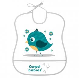 "Baveta ""Cute Animals"", Canpol babies, fara BPA, verde"