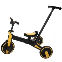 Tricicleta Uonibaby 4 in1, Pliabila si cu maner de impingere - Yellow