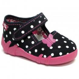 Sandale Fete, Negru Roz, inchidere velcro, marca RenBut