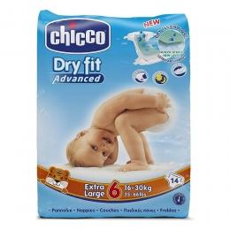 Scutece de unica folosinta Dry Fit Junior, nr. 6, ( 16-30kg ), 14 buc