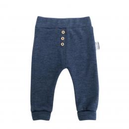 Pantaloni din lana merinos extrafina Prussian Blue