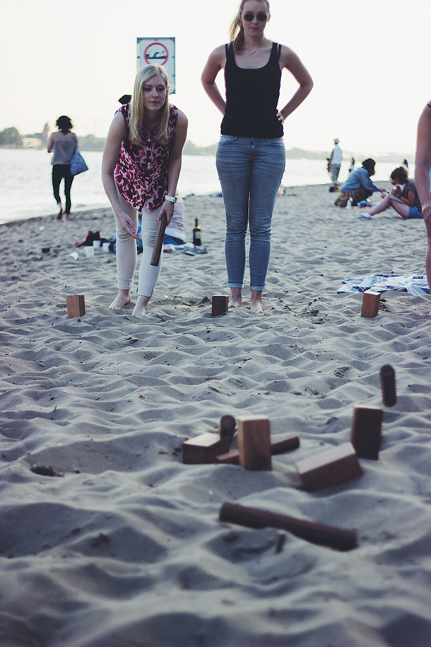 Kupp am Strand