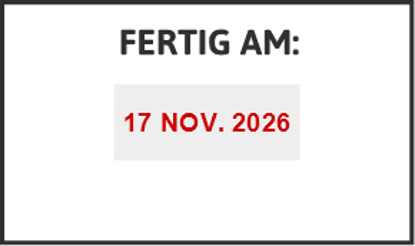 Bild von Datumstempel FERTIG AM