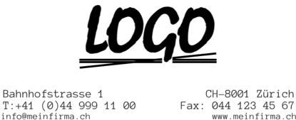 Bild von Vorlage Firmenstempel  mit Logo zentriert
