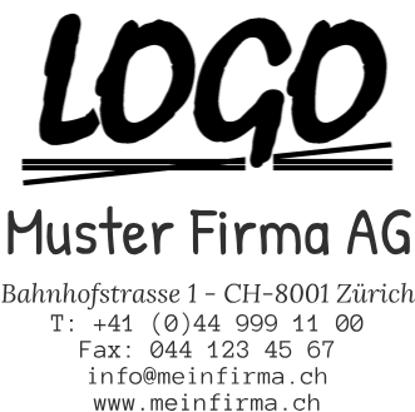 Bild von Vorlage Firmenstempel 8 Zeilen mit Logo klein