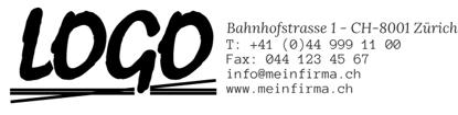 Bild von Vorlage Firmenstempel 8 Zeilen Logo rechts