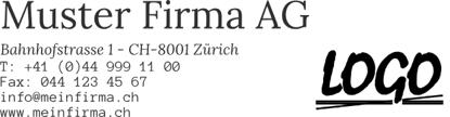 Bild von Vorlage Firmenstempel 8 Zeilen mit Logo rechts
