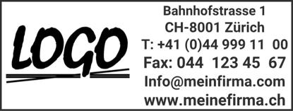 Bild von Vorlage Firmenstempel 8 Zeilen zentriert Logo