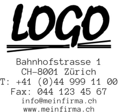 Bild von Vorlage Firmenstempel mit Logo