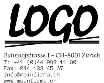 Bild von Vorlage Firmenstempel Logo zentriert