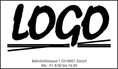 Bild von Vorlage Firmenstempel mit Logo gross