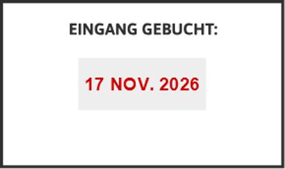 Bild von Datumstempel EINGANG