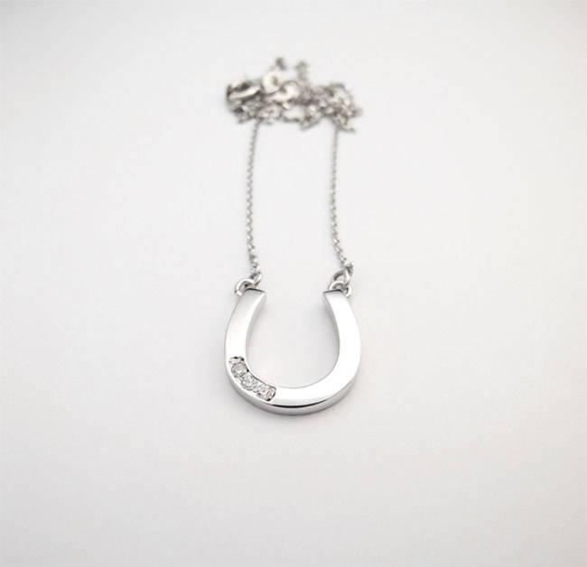 pendant horseshoe on chain