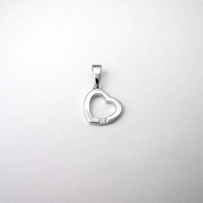 obesek srce darilo ob rojstvu zlato diamant