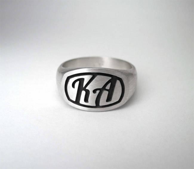 pečatni prstan moški gravura globoka