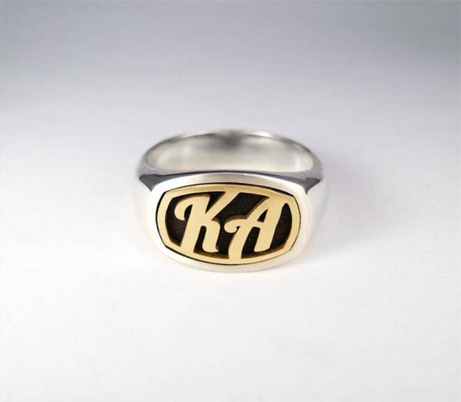 a golden engraving ring with a golden engraving ring