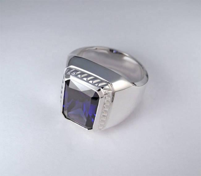 prstan rubin safir turmalin akvamarin moški