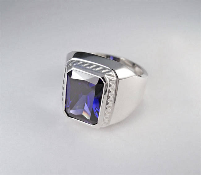 sapphire seal ring turmaline aquamarine