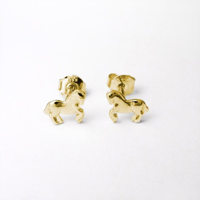 Horse note studs earrings