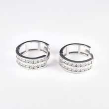 Earrings Creole White Gold