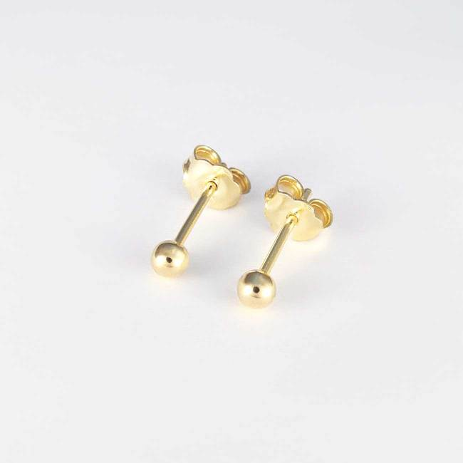 borchie mini sfera oro massiccio 14k