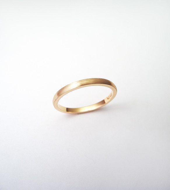 prstan minimalističen stackable roza zlato mat obdelava