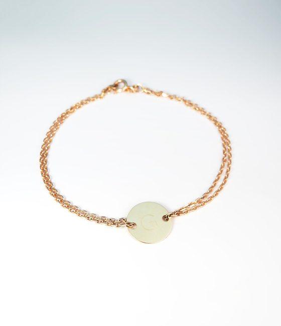 bracelet basic rose gold engravig