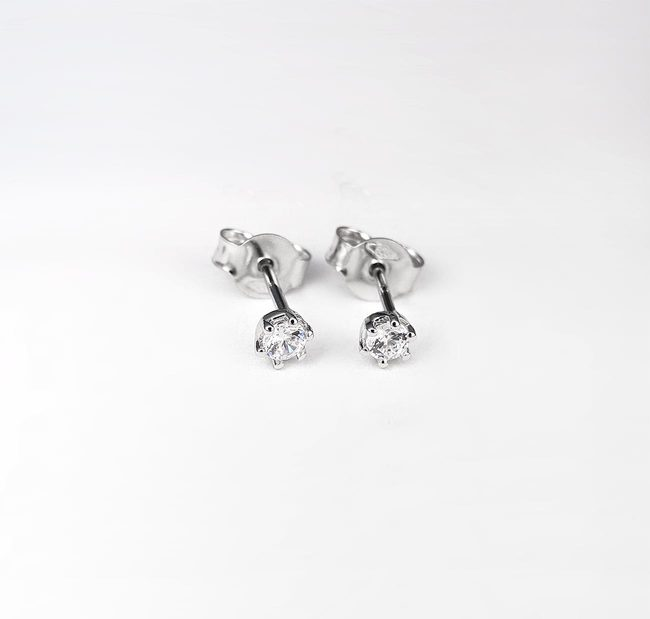 basic studs oorbellen 010ct diamanten