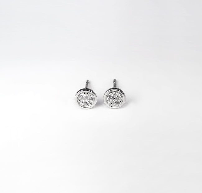 boucles d'oreilles rondes diamants 0045 ct