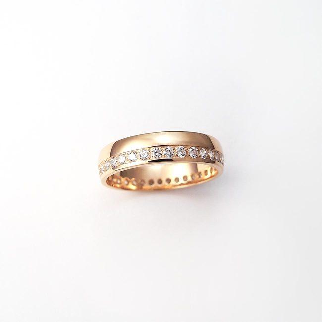 poročni prstani neskoncni diamanti rdeče zlato