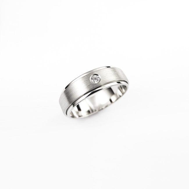 poročni prstan dve rinki cirkon zlato