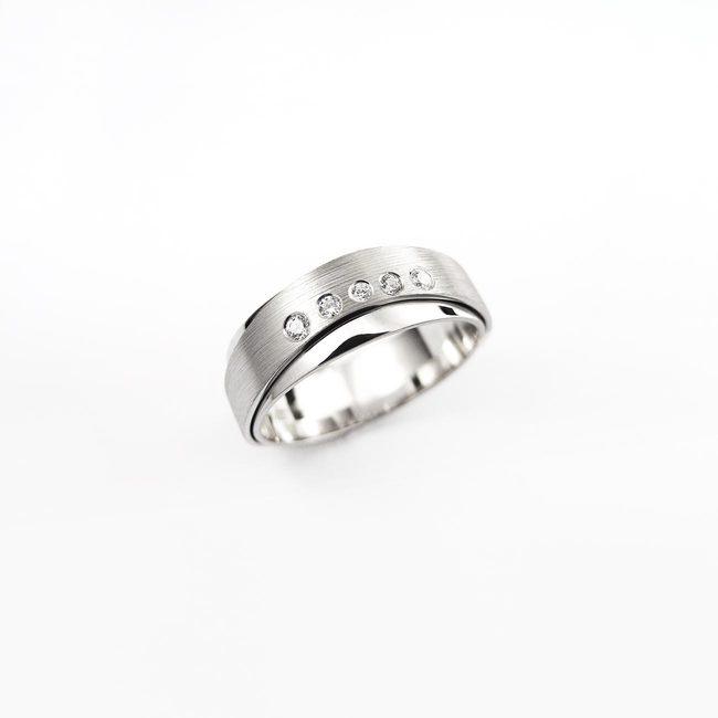 poročni prstan dve rinki mat