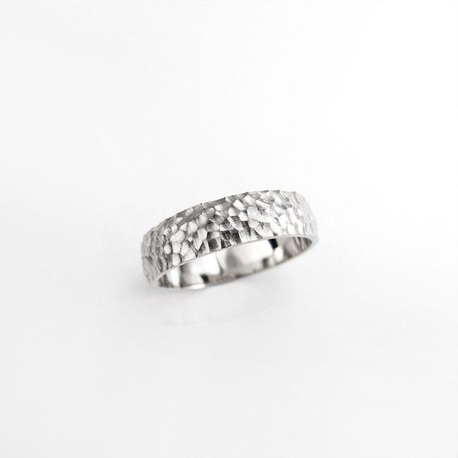 poročni prstan naravni vzorec kamen moški