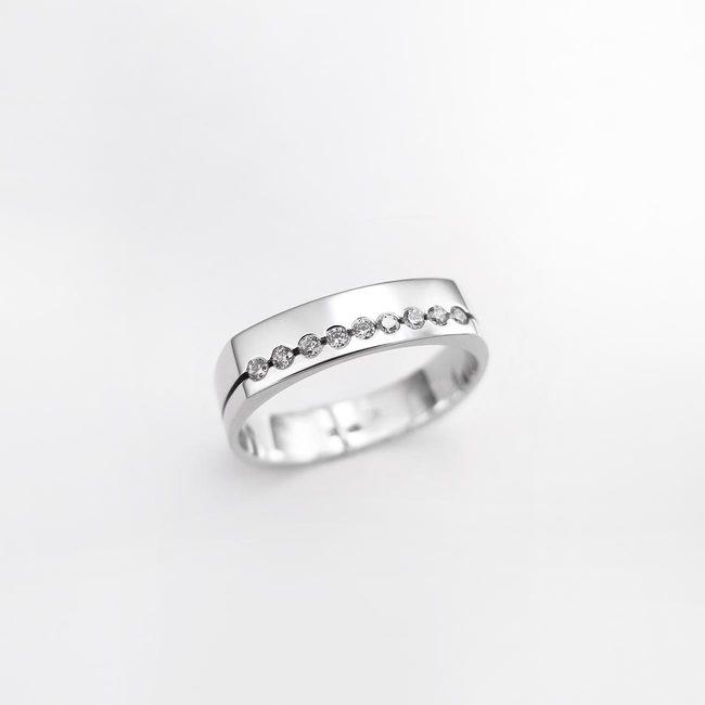 poročni prstan ženski ozja pravokotna oblika diamanti ženski