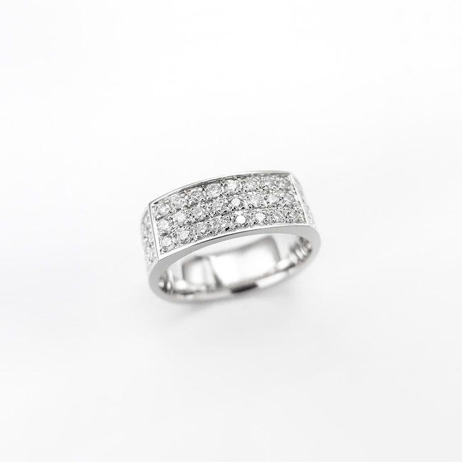 poročni prstan ženski pravokotna oblika z diamanti ženski