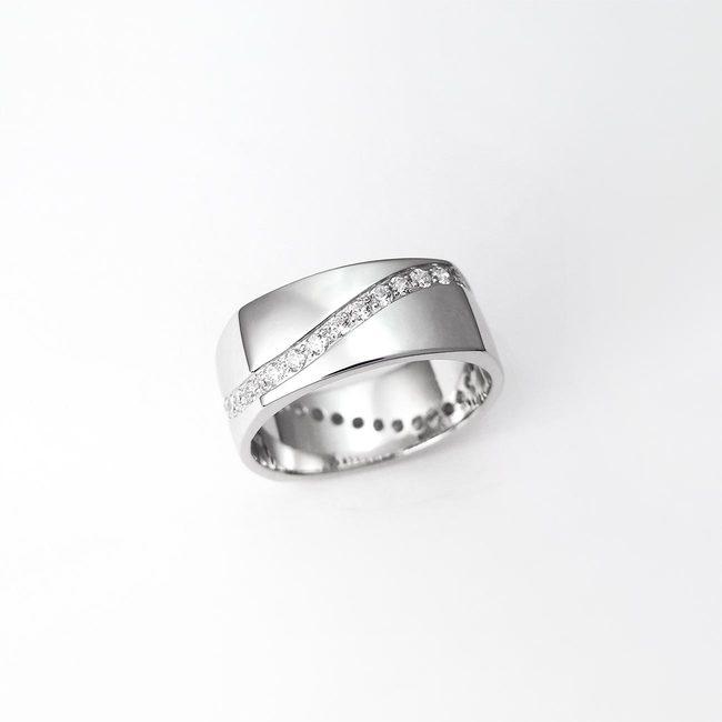poročni prstani kvadratni ženski vijuga zlato diamanti