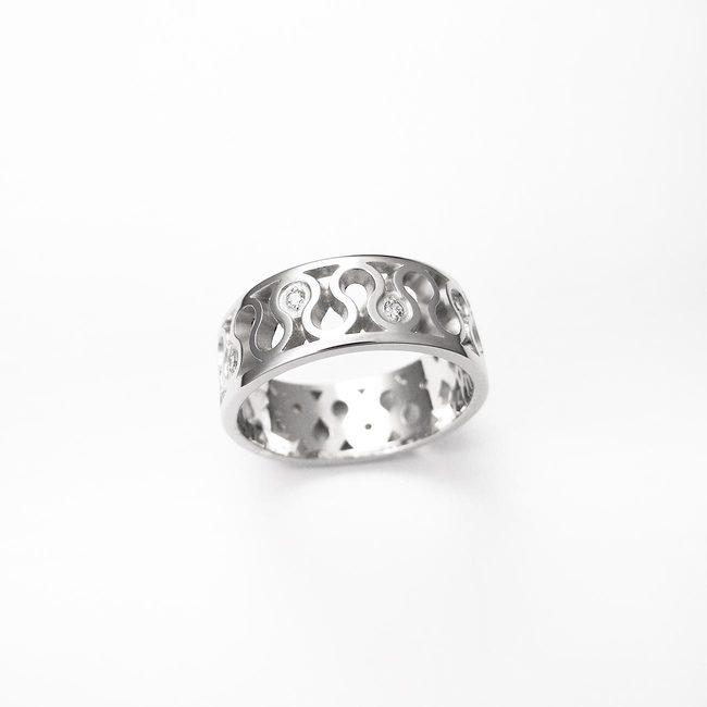 poročni prstani naravni vzorec vijuga zlato diamanti