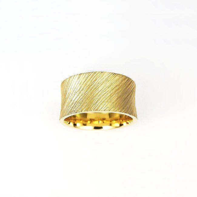 prstan poročni konkaven masiven zlato