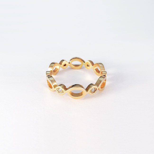 prstan poročni naravne vijuge roza zlato