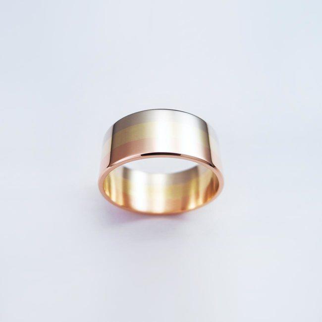 poročni prstan belo rdeče rumeno zlato