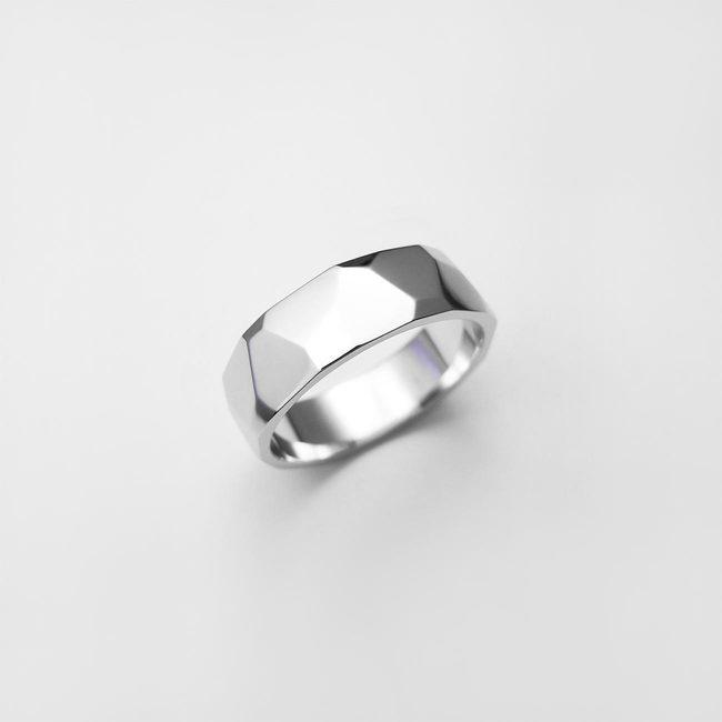 prstan poročni ice moški belo zlato
