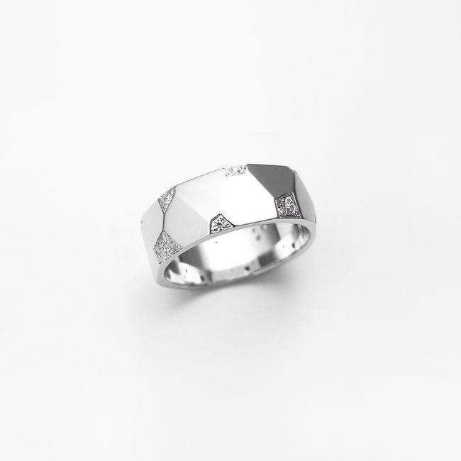 prstan poročni ice ženski zlato diamanti belo