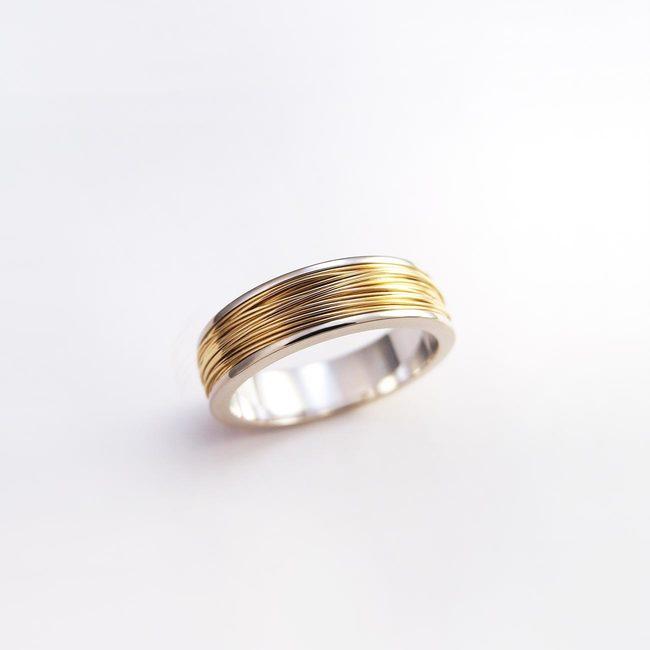 prstan poročni belo zlato rdeče zlato zica moški ženski