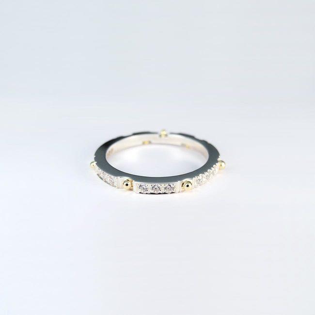 prstan poročni bunkice diamanti