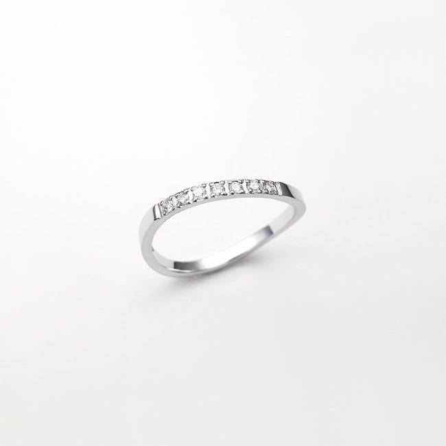 prstan zaročni prepletajce linije diamanti