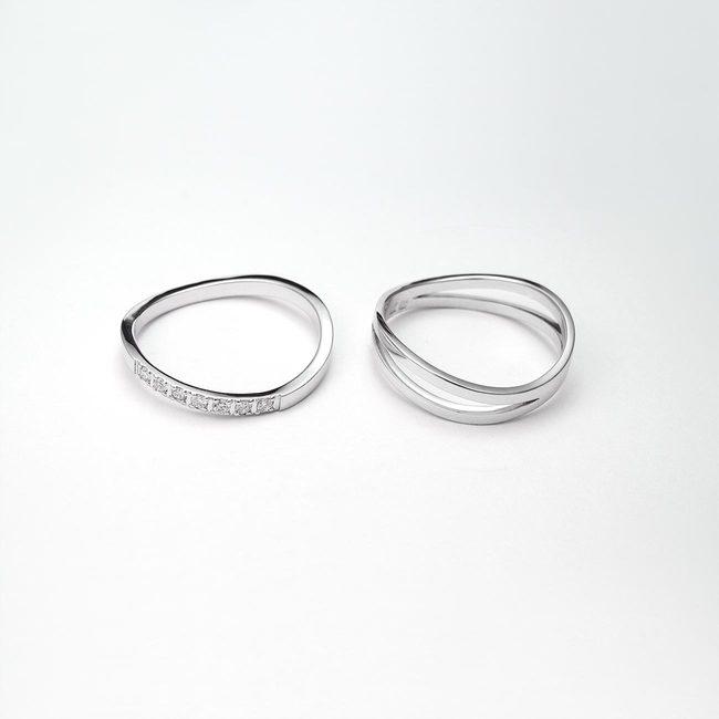 prstana poročni zaročni prepletajoca diamanti