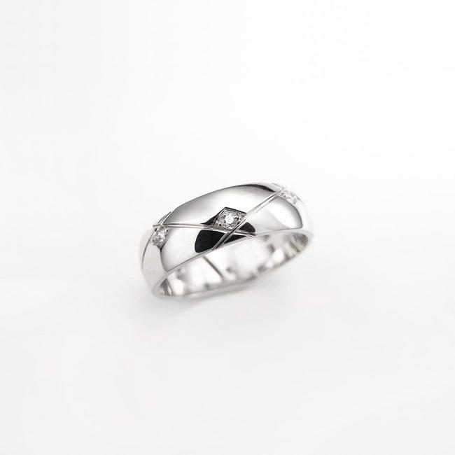 prstani poročni karo linije zlato ženski diamanti